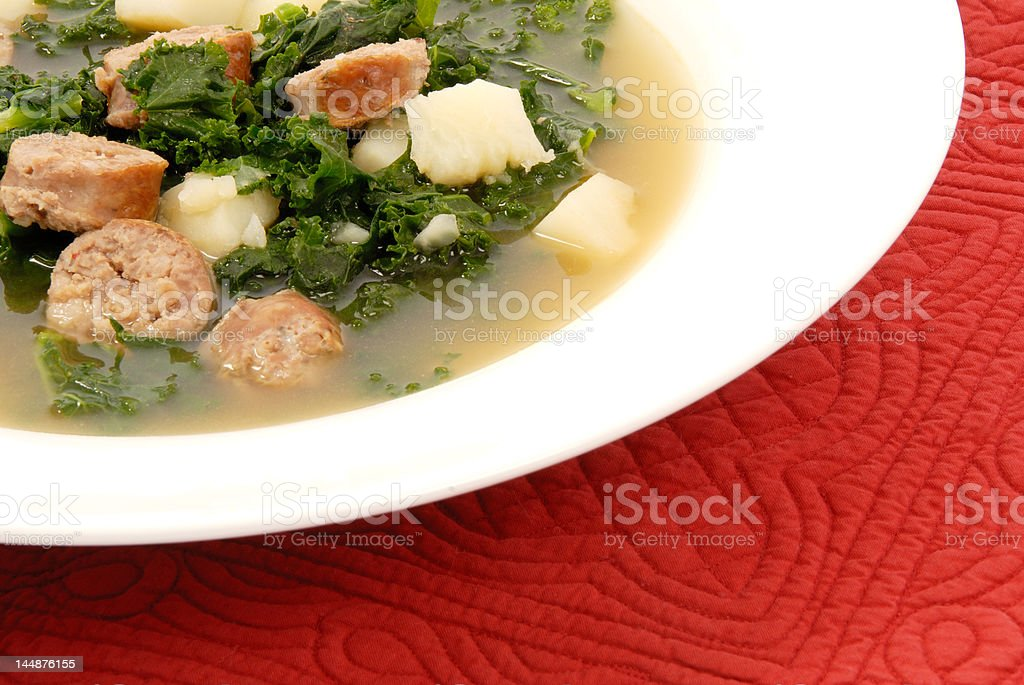 Kale Soup royalty-free stock photo