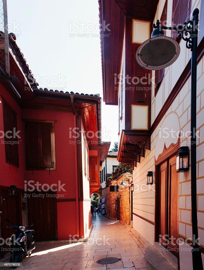 Kaleici in Antalya, tourism travel destination stock photo