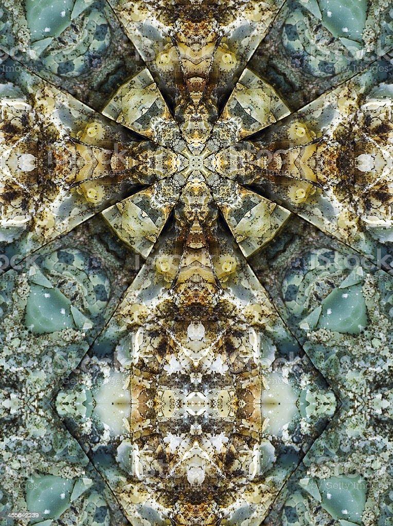 kaleidoscope cross, chert layers stock photo