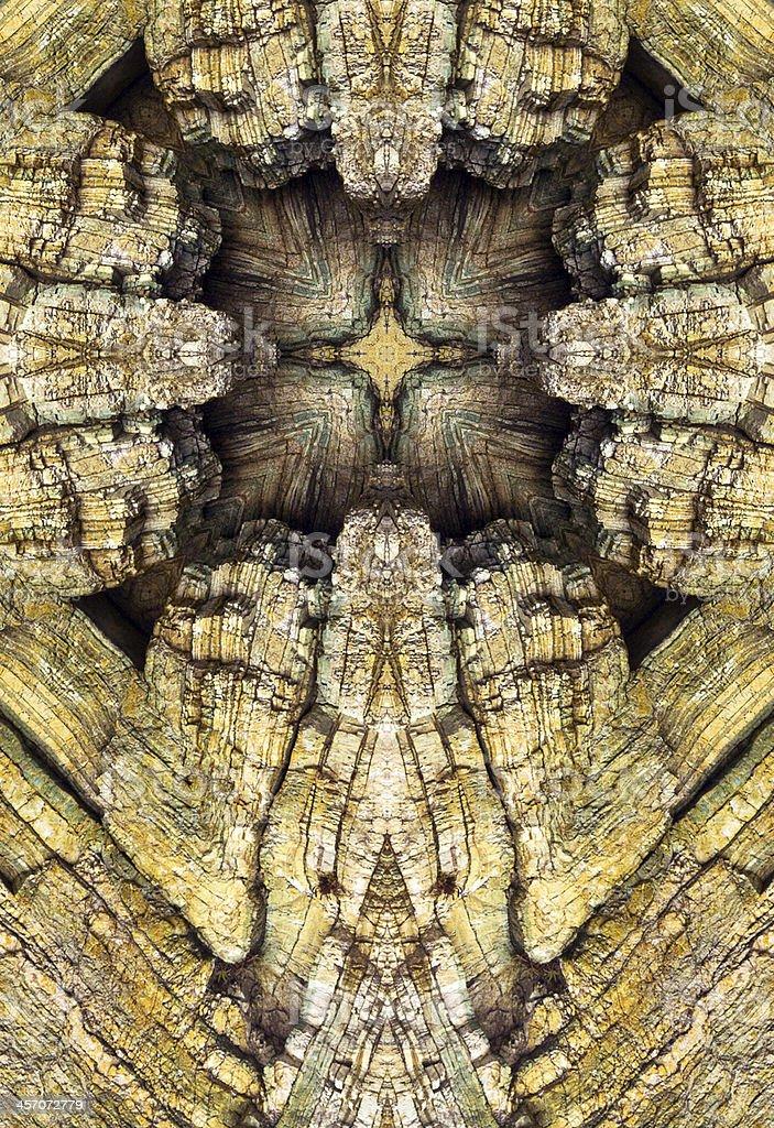kaleidoscope cross, chert layers royalty-free stock photo