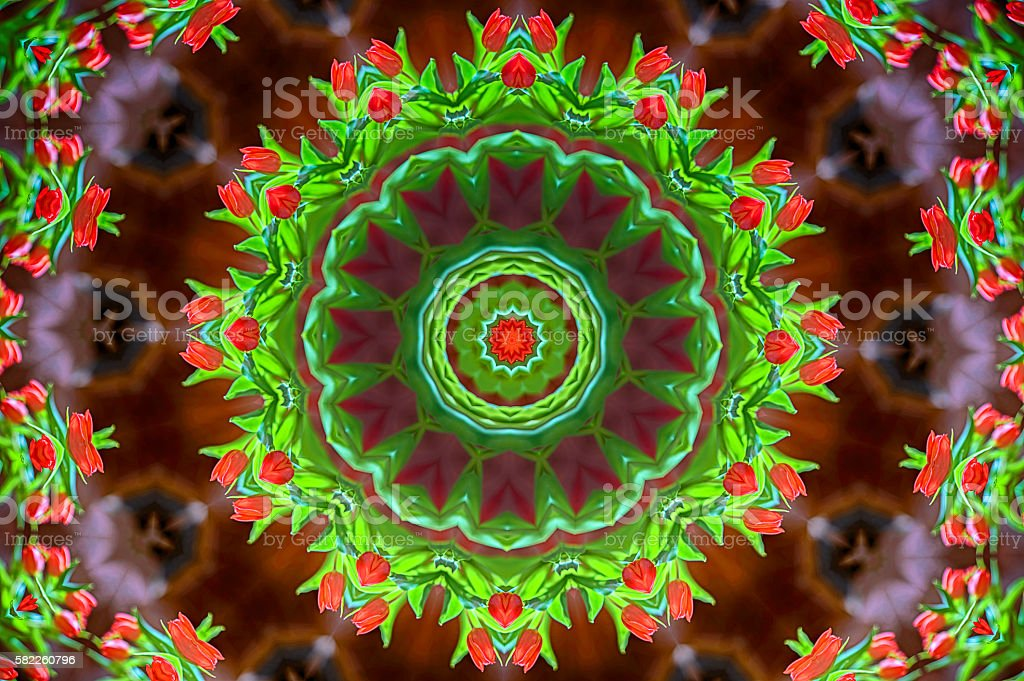 Kaleidoscope design stock photo