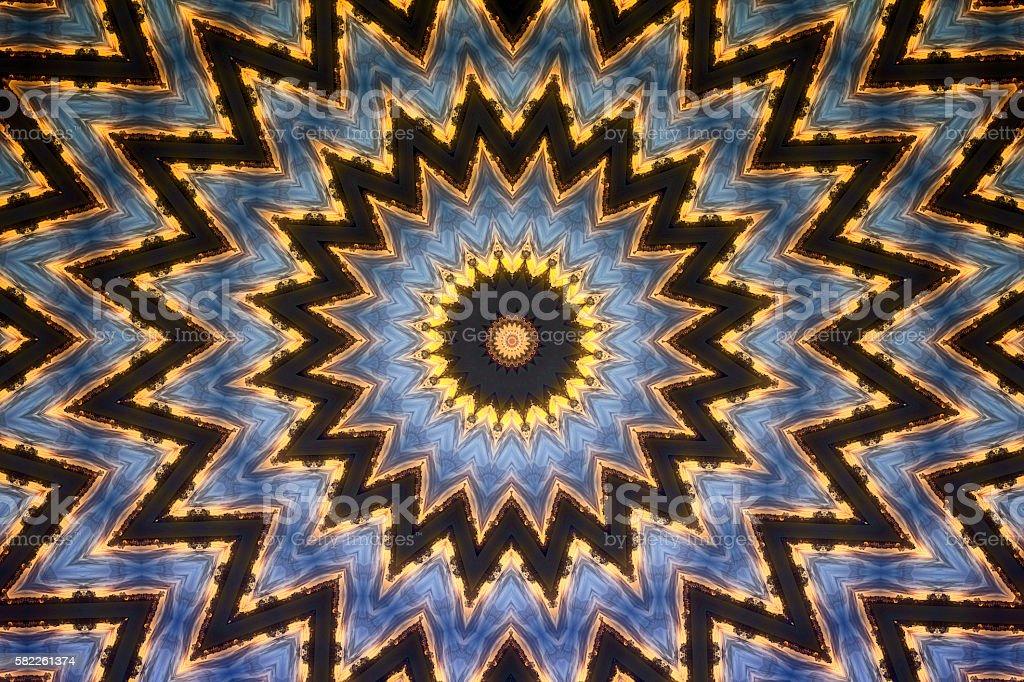 Kaleidoscope design stock photo