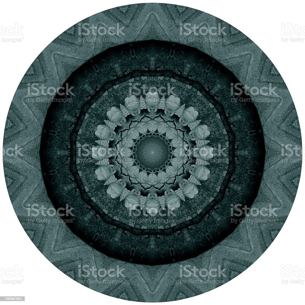 Kaleidoscope Green royalty-free stock photo