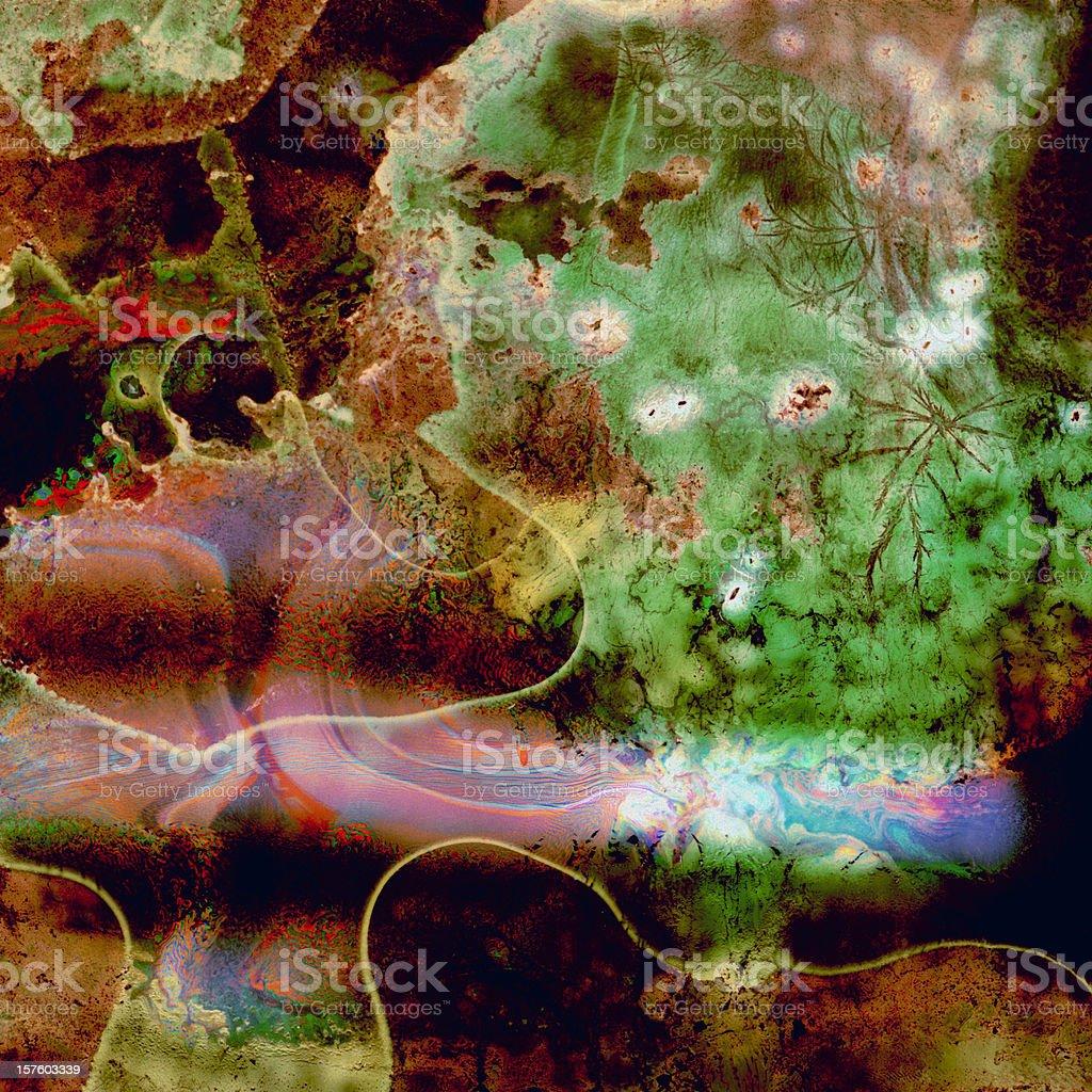 Kaleidoscope Grunge Wallpaper stock photo