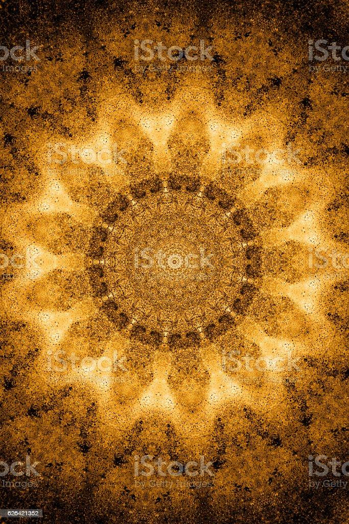 kaleidoscope mystery lights dark brown pattern vector art illustration