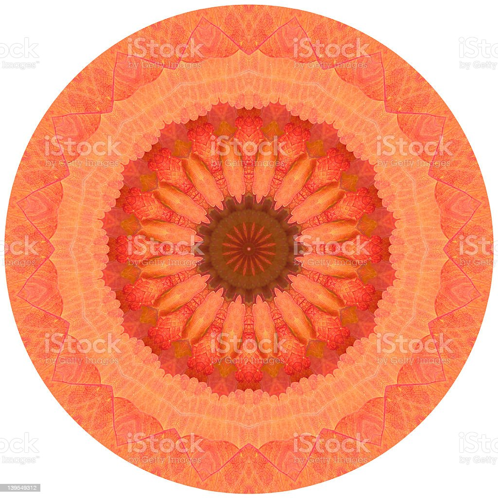 Kaleidoscope Orange royalty-free stock photo