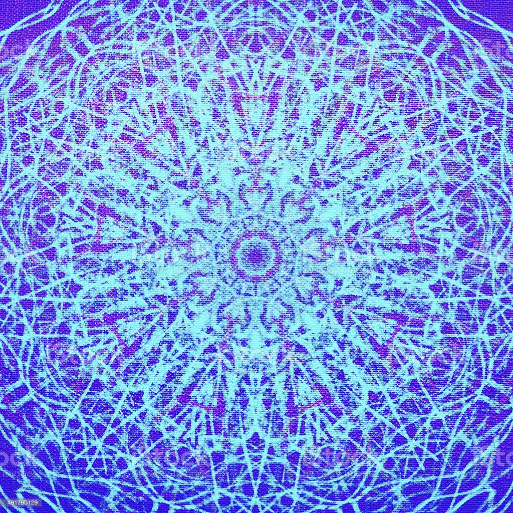 Kaleidoscope Pattern Fabric stock photo
