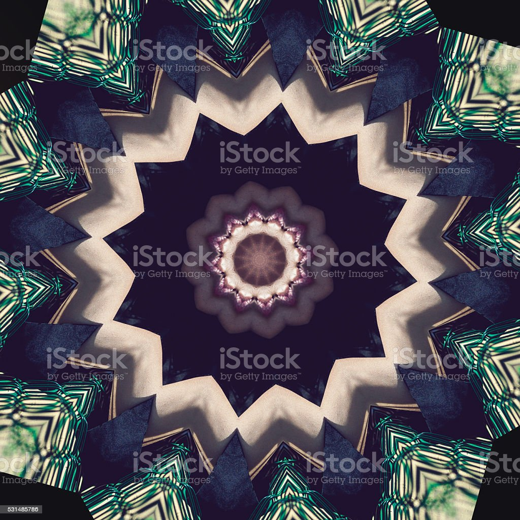 Kaleidoscope pattern stock photo