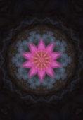 kaleidoscope purple color in a dark pattern