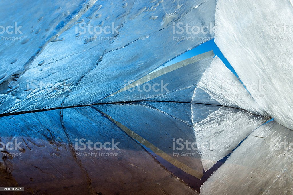 kaleidoscope. the abstract background of ice structure. stock photo