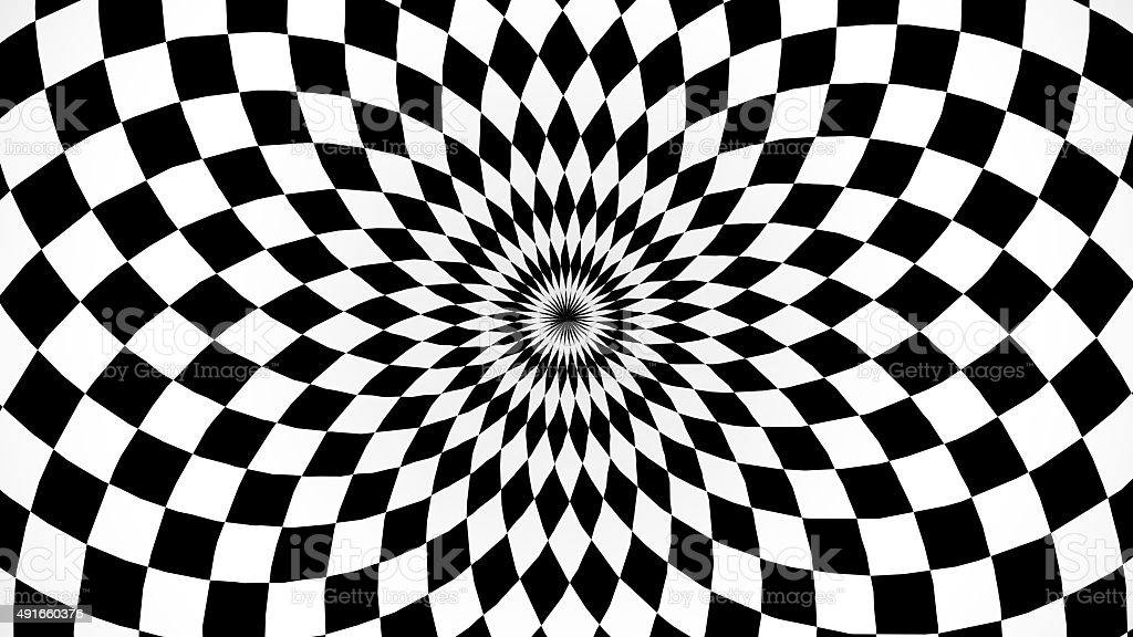 Kaleidoscopic and hypnotic background stock photo