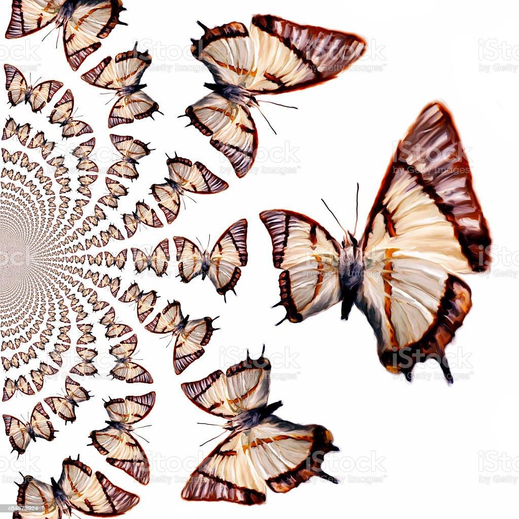 Kaleidoscopic Butterflies Illustration stock photo