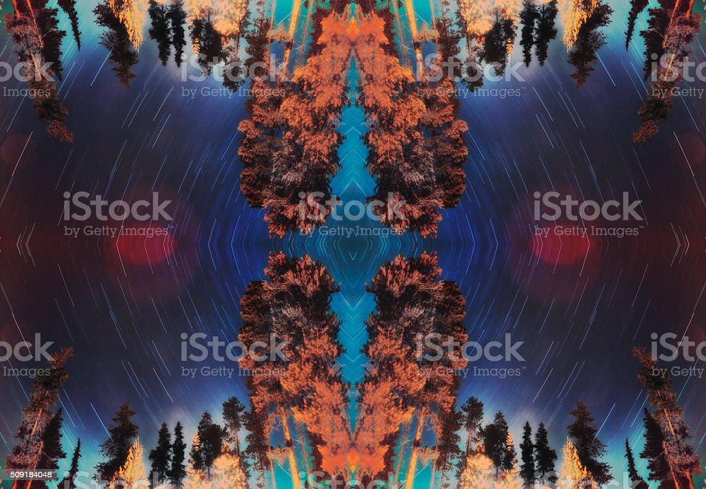 Kaleidoscopic Forest stock photo