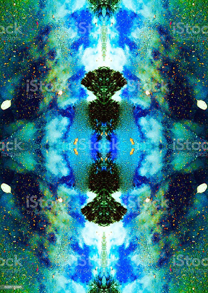 Kaleidoscopic nature abstract of clouds and water stock photo