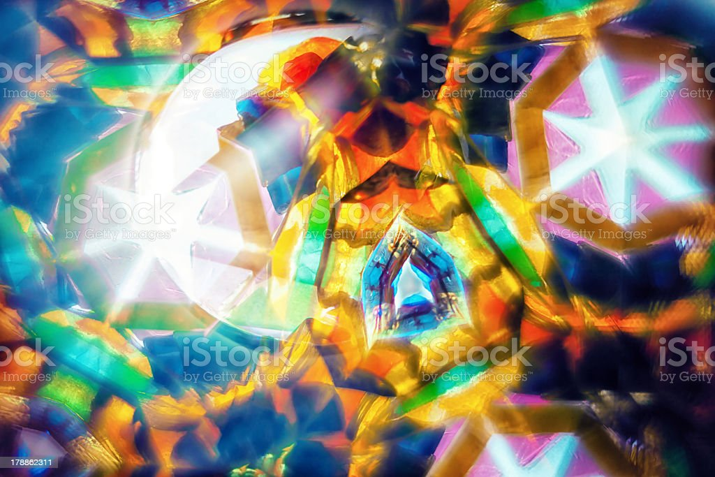 Kaleidoscopic pattern with hexagons stock photo