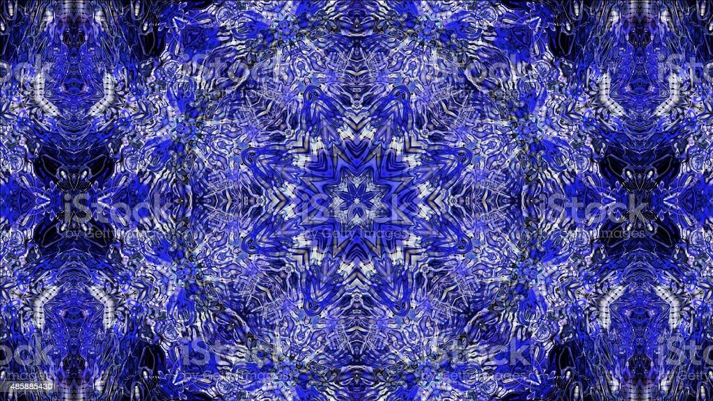 Kaleidoscopic seamless pattern stock photo