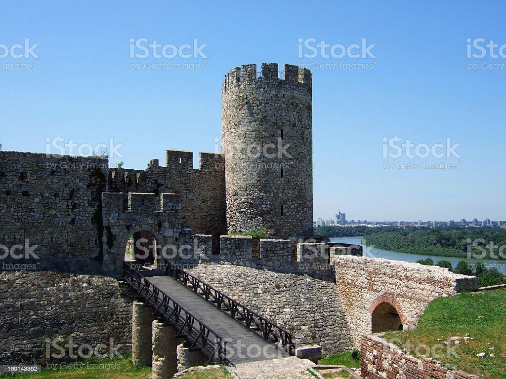 Kalemegdan Fortress on a sunny day stock photo