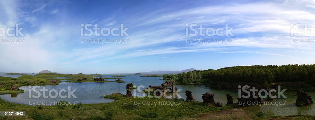 Kalfastrond lava sculpture,Myvatn, Iceland stock photo