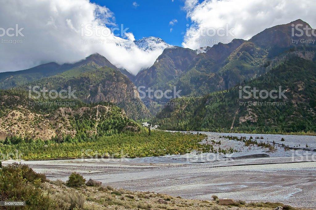 Kali Gandaki Gorge, Annapurna conservation area, Nepal stock photo
