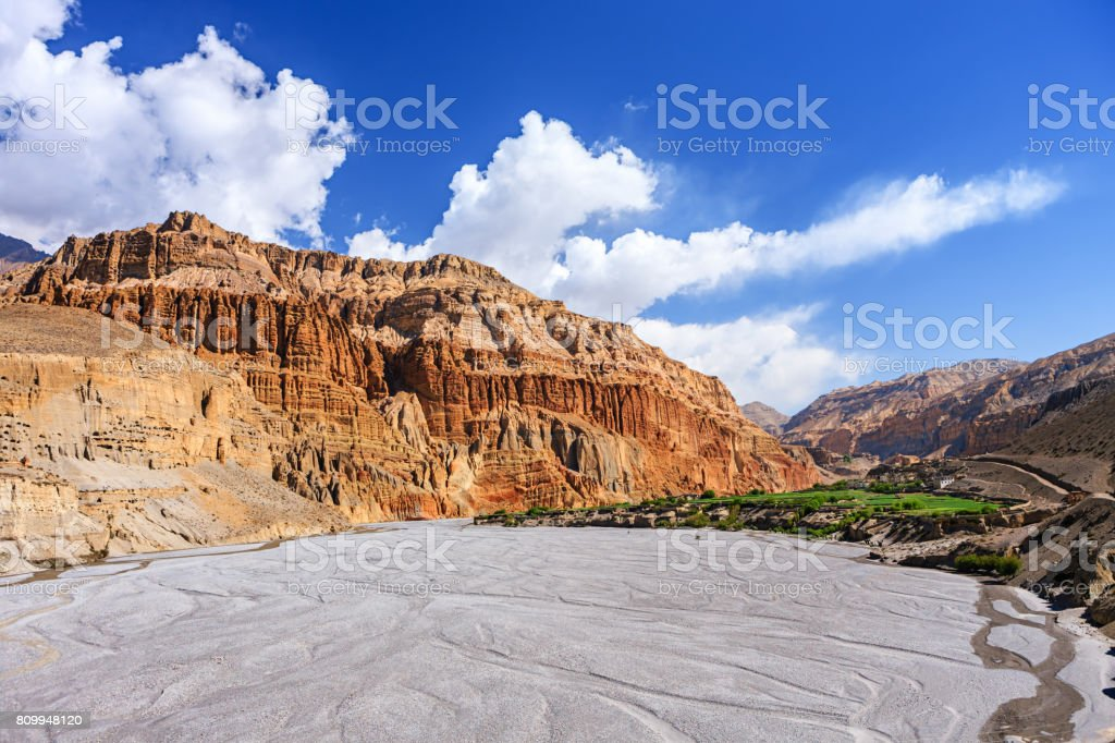 Kali Gandaki Gorge, Mustang, Nepal Himalaya stock photo