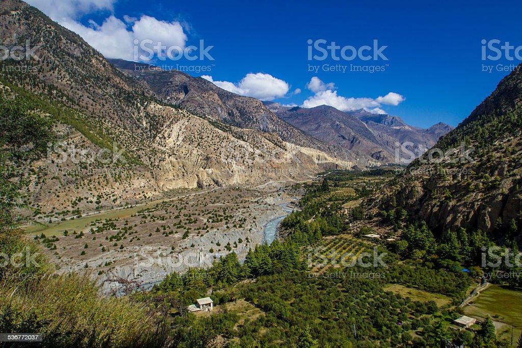 Kali Gandaki Gorge, Nepal royalty-free stock photo