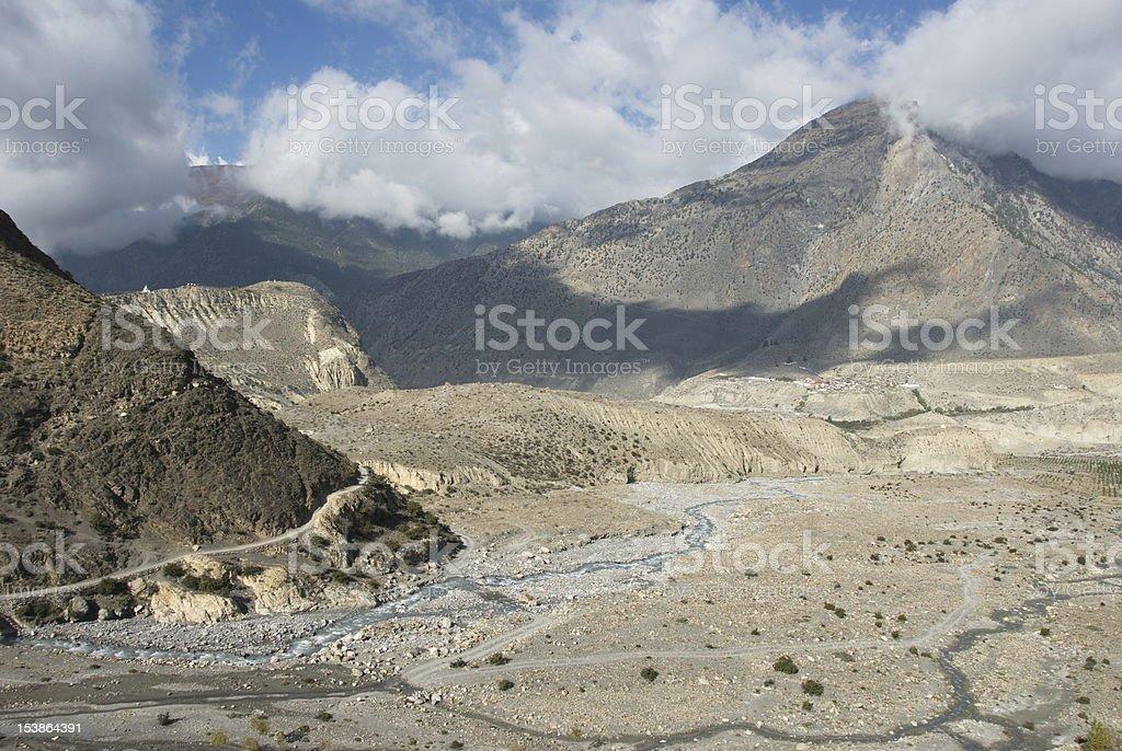 Kali Gandaki valley royalty-free stock photo