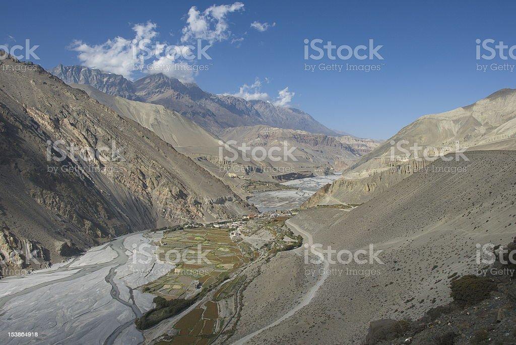 Kali Gandaki valley stock photo