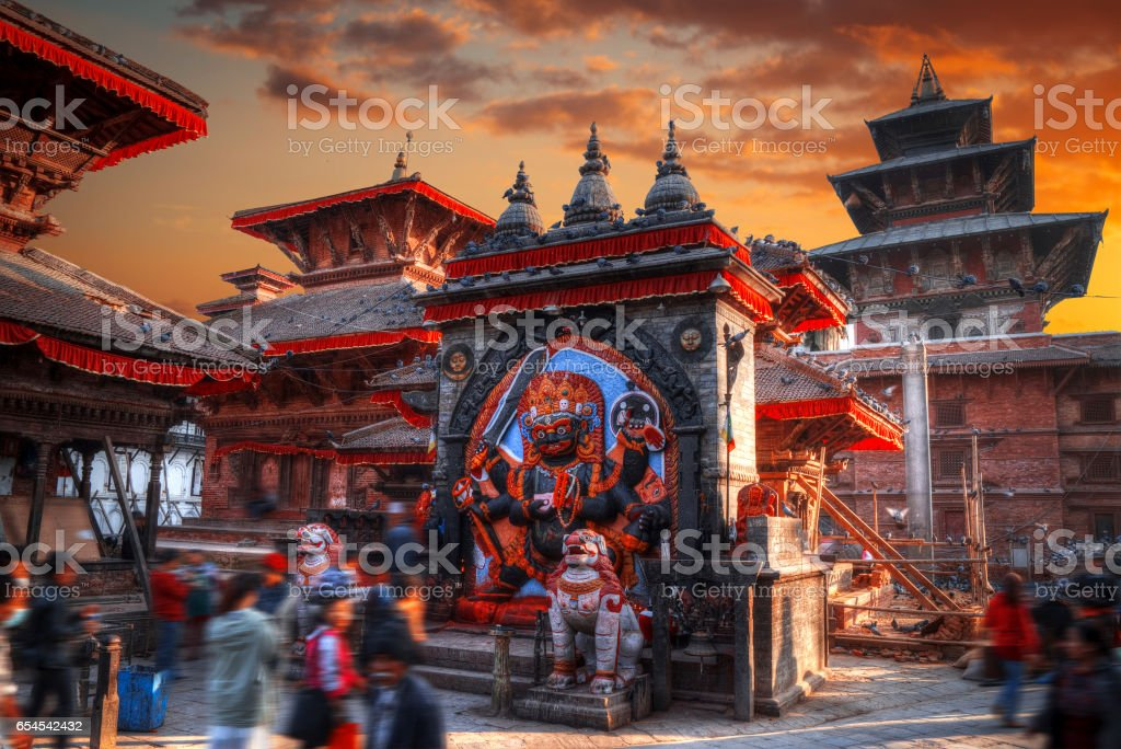 Kali statue in Kathmandu stock photo