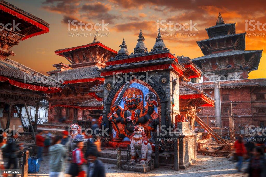 Kali statue in Kathmandu stock photo