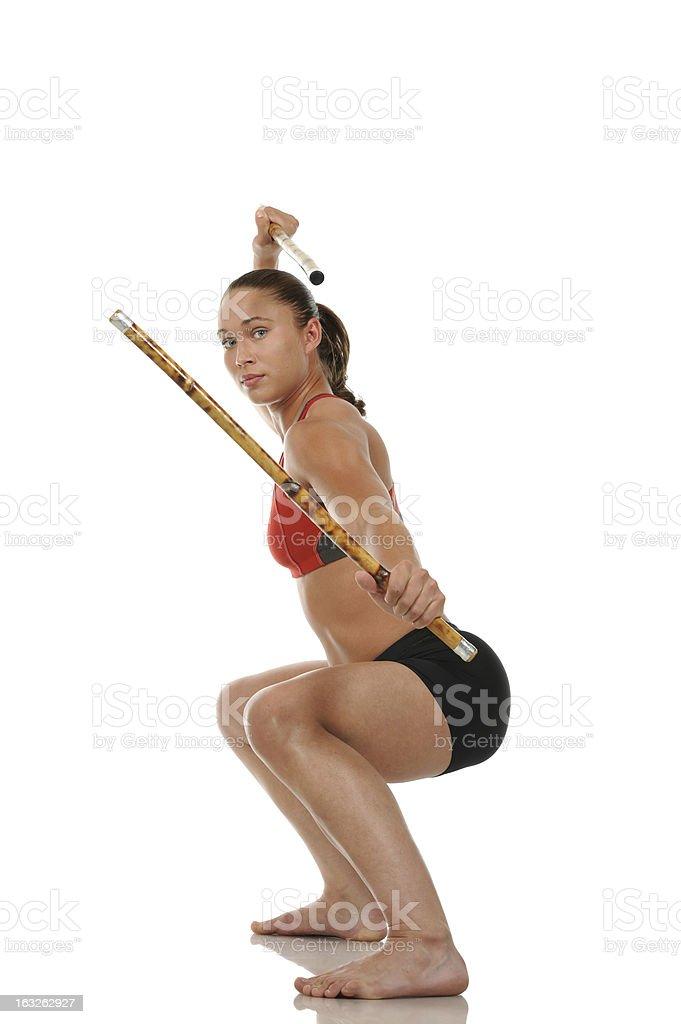 Kali sticks stock photo