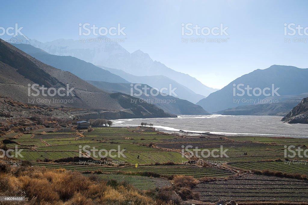 Kaligandaki River stock photo