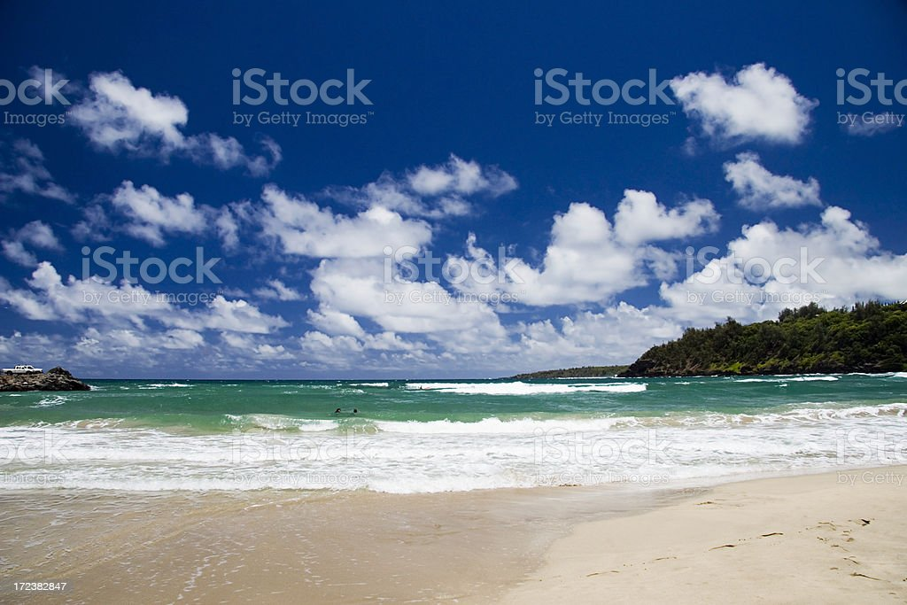 Kalihiwai Bay royalty-free stock photo