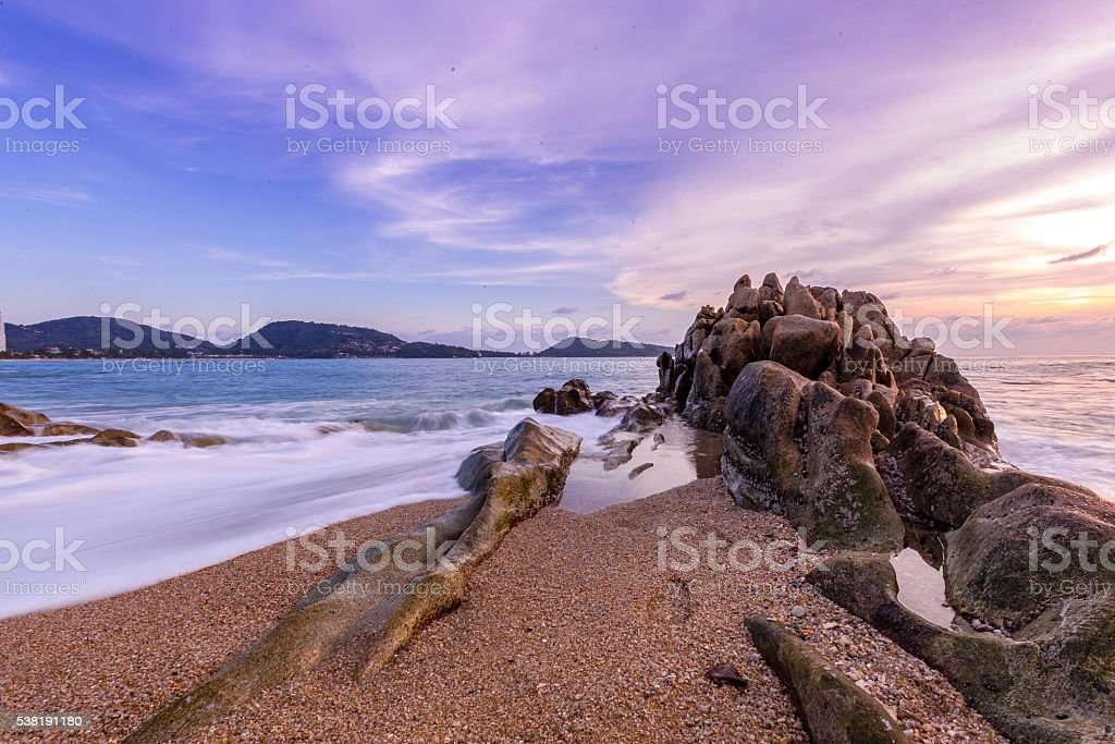 Kalim Beach, Phuket stock photo