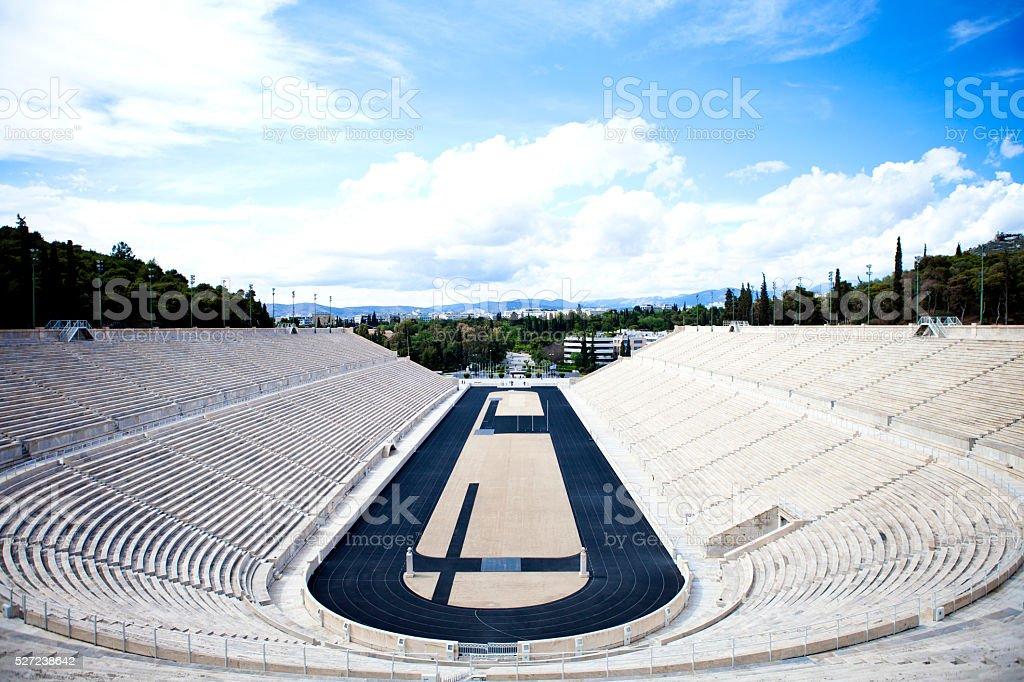 Kalimarmaro, kalilimarmaro panathinaiko stadium at athens stock photo