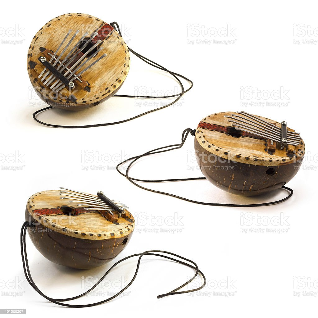 KAlimba, African traditional musical instrument stock photo