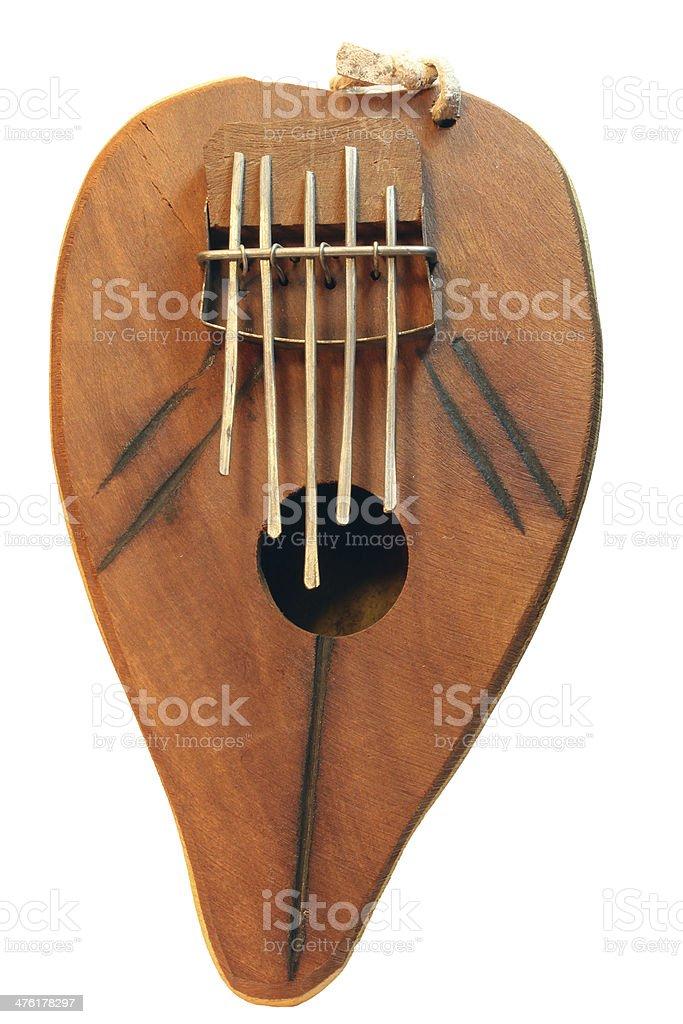 Kalimba thumb piano stock photo