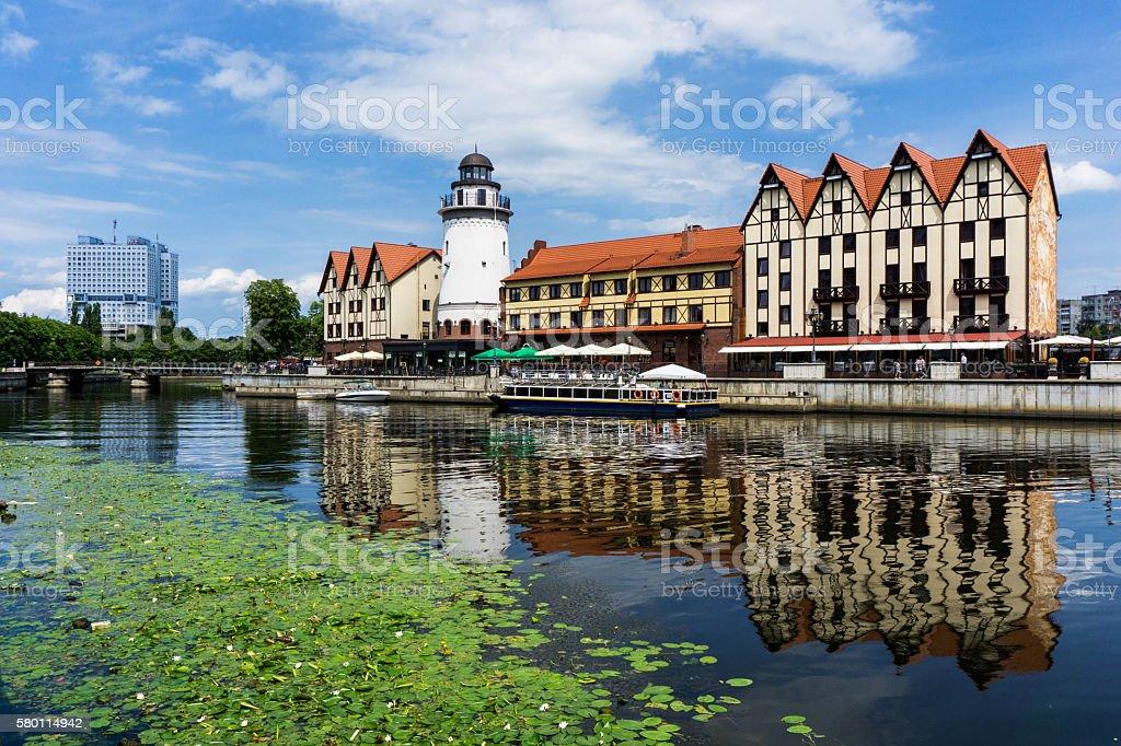 Kaliningrad. Old city reconstruction stock photo