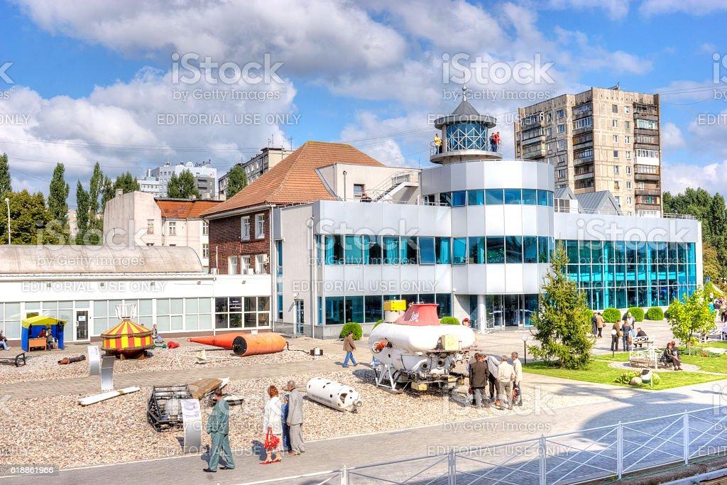 Kaliningrad. Territory of museum of World Ocean stock photo