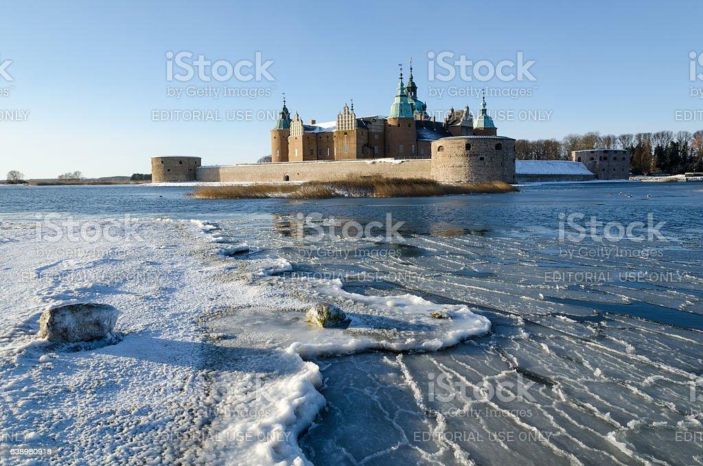 Kalmar castle at winter season stock photo