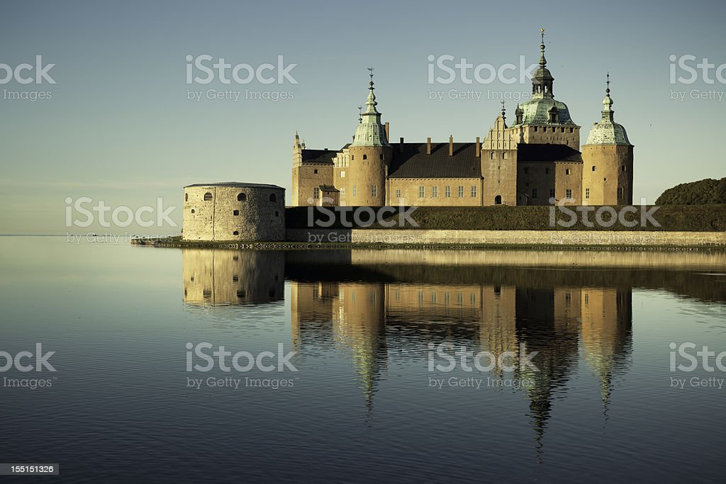 Kalmar castle stock photo