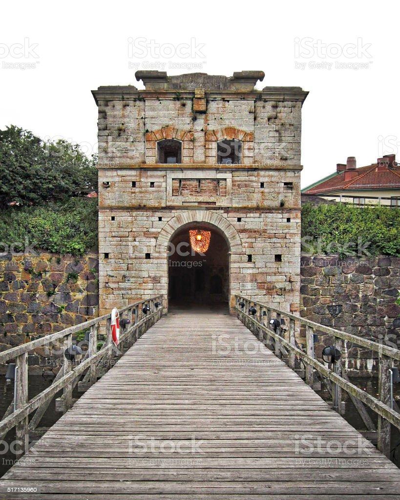 Kalmar City Gate stock photo