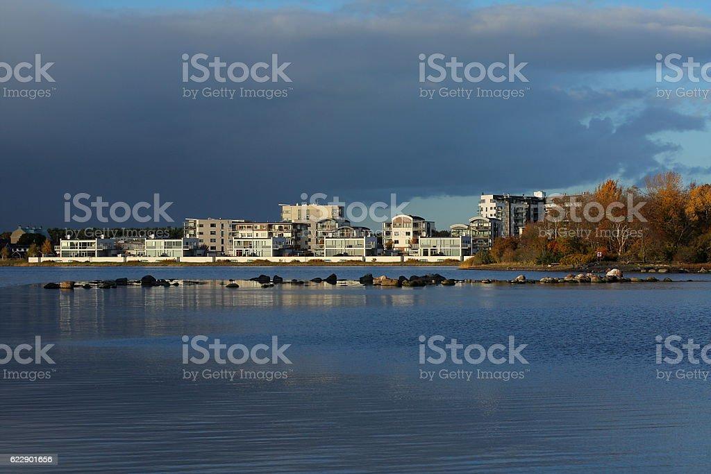 Kalmar cityscape stock photo