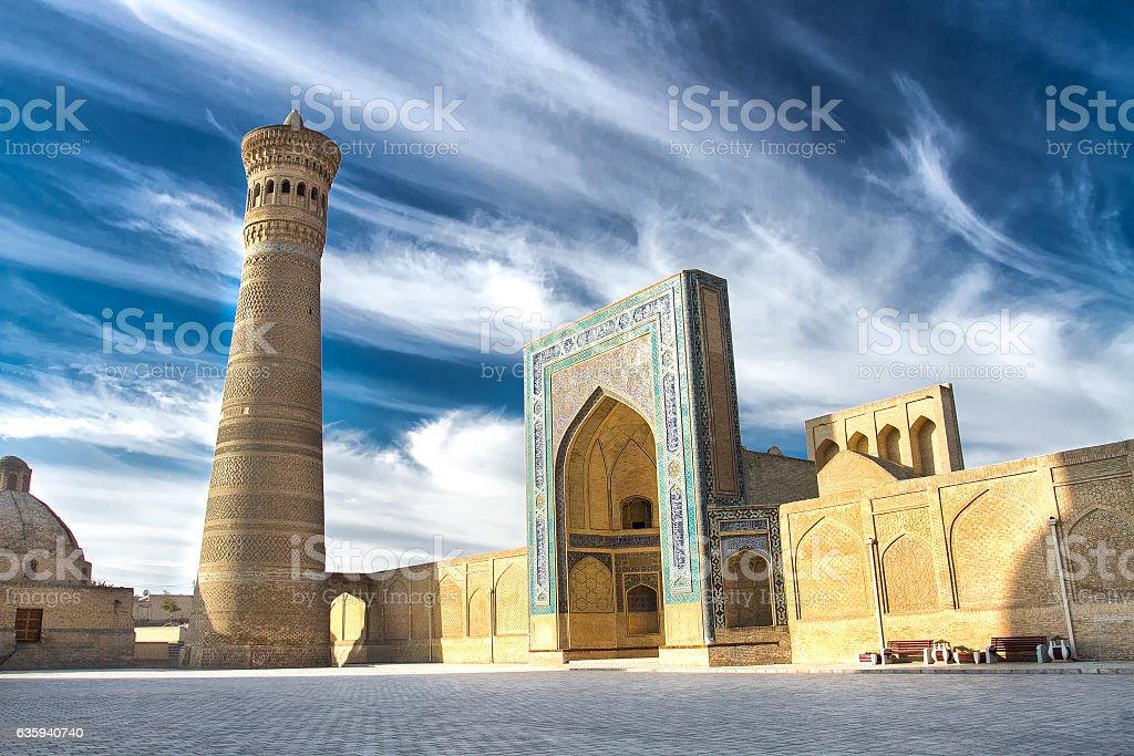 Kalyan Minaret and Mosque, Bukhara, Uzbekistan stock photo