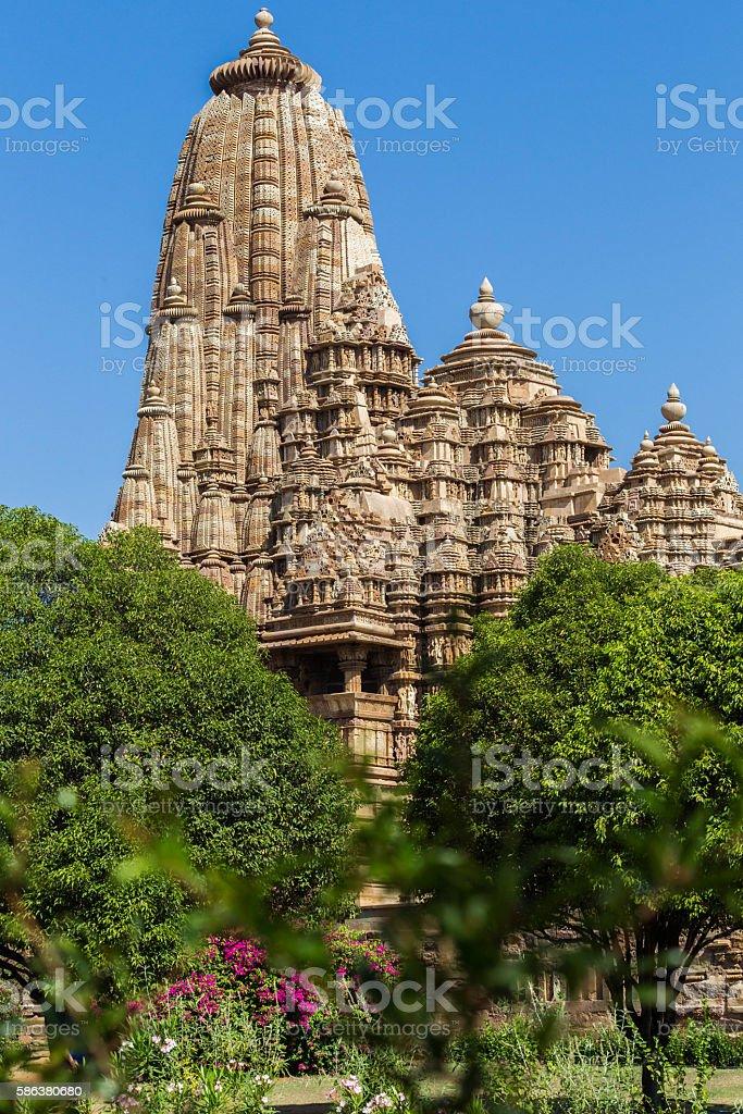 Kama Sutra Temple, Khajuraho, India stock photo