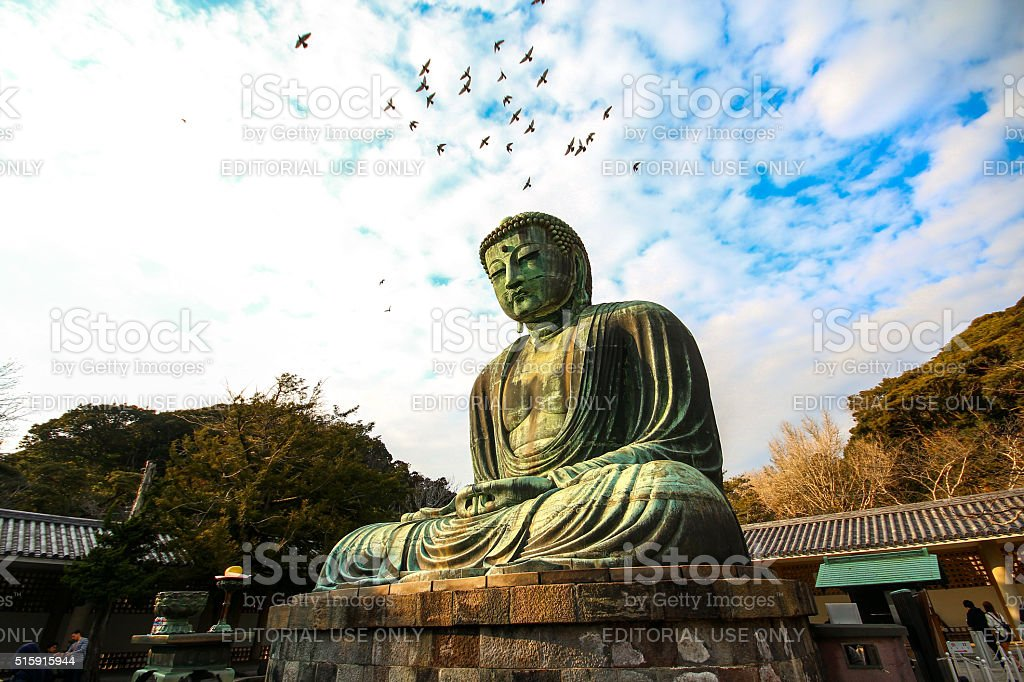 Kamakura, Japan - March 05, 2015 - Great Buddha Daibutsu stock photo