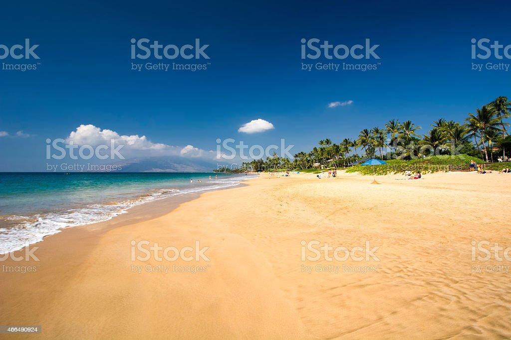 Kamaole Beach, south shore of Maui, Hawaii stock photo