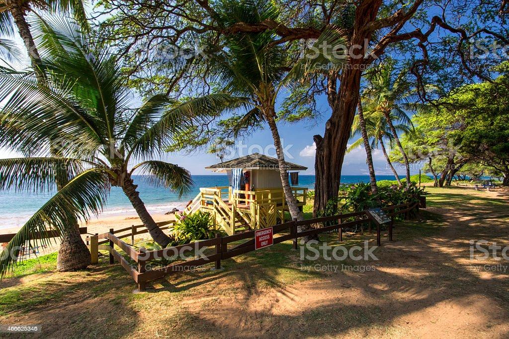 Kamaole III Beach, south shore of Maui, Hawaii stock photo