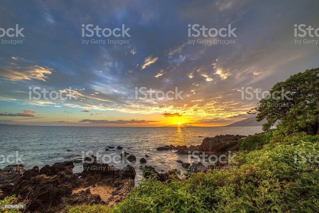 Kamaole sunset stock photo