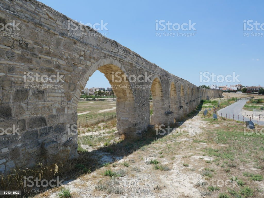 Kamares Aqueduct, Larnaca, Cyprus stock photo