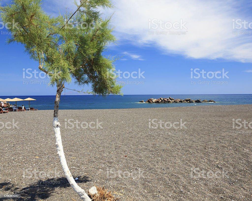 Kamari de Santorin photo libre de droits